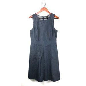 Ann Taylor 10 dress chambray Sleeveless shift blue